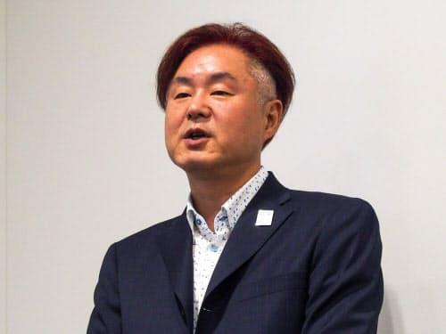 NTTコミュニケーションズの東出治久経営企画部ビジネスイノベーション推進室長(撮影:山口健太)