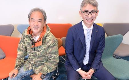 Nianticの足立光・プロダクトマーケティング シニアディレクター(左)とローランド・ベルガーの長島聡社長(右)