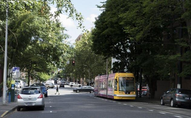 本格的な海外展開に向け、ポートランドに活動の軸足を移している。路面電車が便利なポートランドはアウトドアブランドの街として知られる(写真:尾苗清)