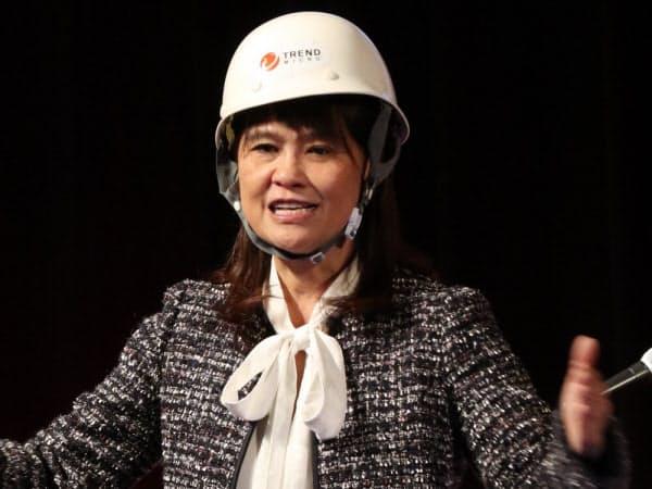 トレンドマイクロのエバ・チェン社長兼最高経営責任者(CEO)