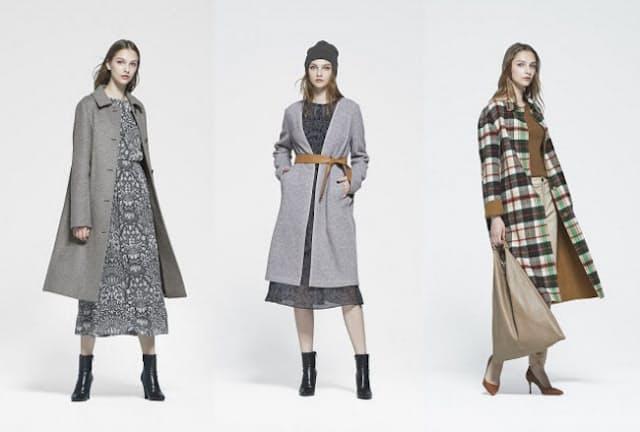 コートで着ぶくれしないように見せるには柄や色の工夫がポイント