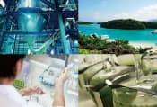 現在の年間生産量は数十トン。ユーグレナは、石垣島に新研究所を開設し、生産効率の向上を図る