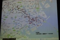 自治体の避難所情報を地図サービスに重ね合わせて提供できる