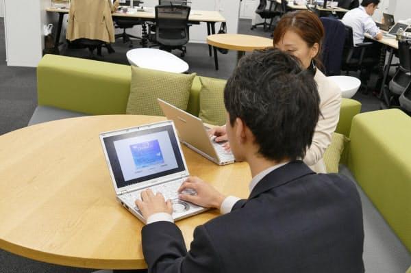 パナソニックグループ内で実績があるパソコンを活用した働き方改革のノウハウを外販(出所:パナソニックシステムソリューションズジャパン)
