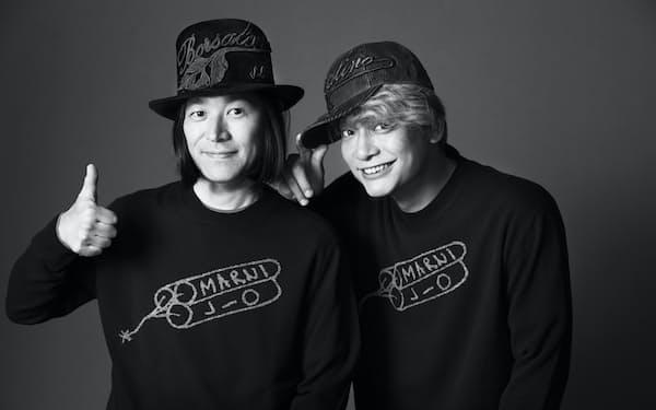 香取慎吾さん(右)と、スタイリストの祐真朋樹さんがオリジナルブランドを展開する