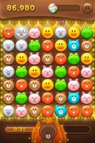 スマホ向けゲーム「LINE POP」。公開から約2カ月で2000万ダウンロードを突破した