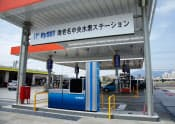 図1 ガソリンスタンド併設型の水素ステーション(写真:JX日鉱日石エネルギー)