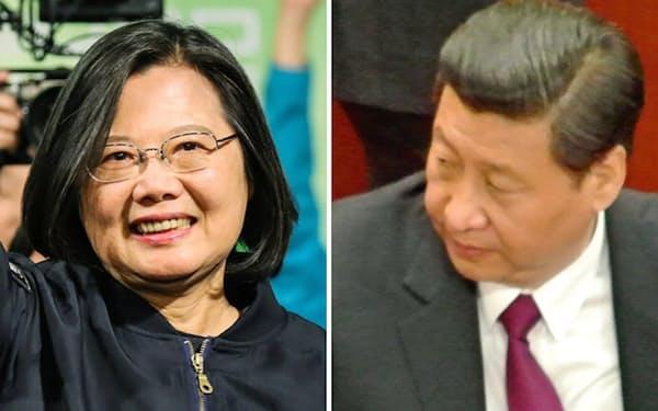「中国離れ」を選択した台湾(勝利宣言する蔡英文総統(左)と中国の習近平国家主席)