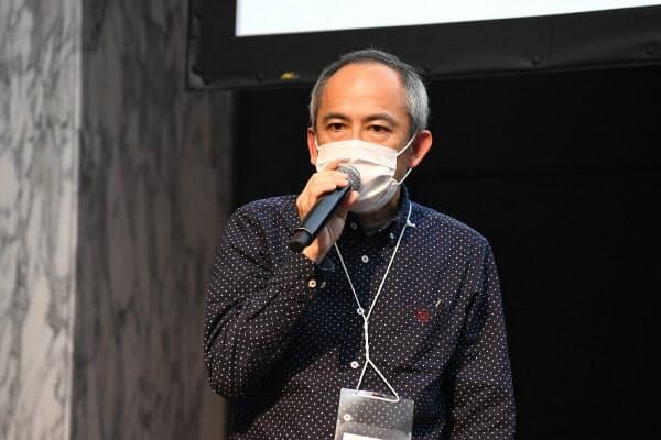 日清食品ホールディングスの喜多羅滋夫執行役員CIO(撮影:星佳代子)