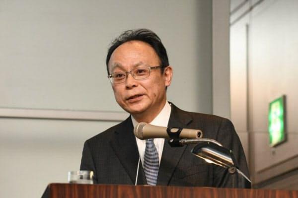 2020年2月18日、「東京デジタルイノベーション2020」で講演する前田建設工業の三島徹也ICI総合センター長