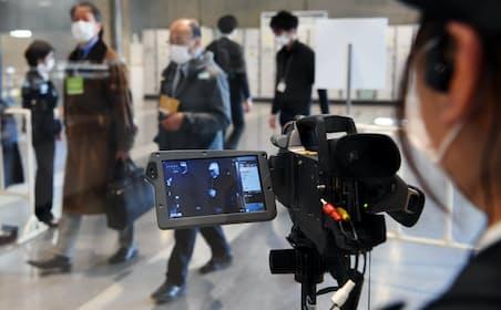 新型肺炎対策としてサーモグラフィーを導入して開催した展示会も(2月中旬)