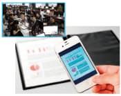 写真1 書類などを簡単に電子化できる「SHOT DOCS」の利用イメージ。左の写真は、SHOT DOCS用アプリを開発したバイタリフィ・アジアの拠点の様子
