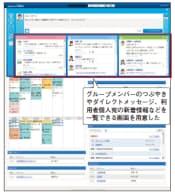 図2 ネオジャパン「desknet's NEO」の画面例。つぶやきを投稿できる機能を搭載した