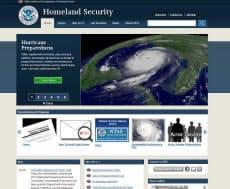 米国土安全保障省のホームページ