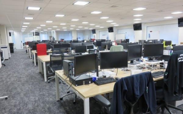 リモートワーク期間中のオフィスの様子(出所:GMOインターネット)