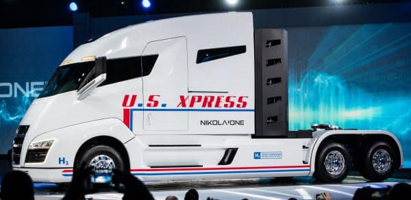米ニコラ・モーターの燃料電池トラック(トレーラーのヘッド部分)
