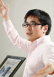 楽天の森執行役員はハイブリッド型販促に挑む(写真:村田和聡)