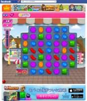 キャンディ・クラッシュ・サーガのフェイスブック版のゲーム画面(写真は筆者のアカウントページ)