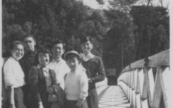 中央大学の仲間と(後列右端)