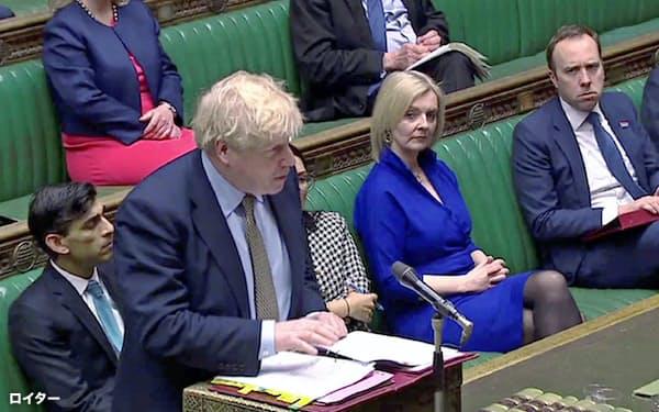 英議会は新型コロナの感染拡大で4月21日まで閉鎖する(3月18日、ロンドン)=ロイター