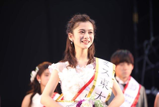 2019年のミス東大グランプリに輝いた上田彩瑛さん(エイジ・エンタテインメント提供)
