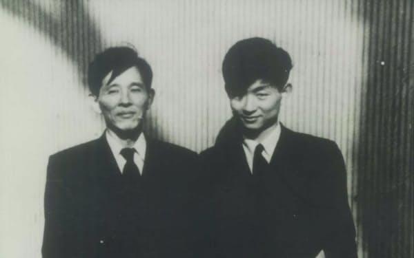 斎藤秀雄先生(左)と