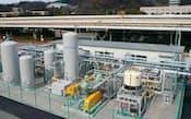 JFEスチールが西日本製鉄所福山地区で実証するゼオライトを使ったCO2分離・回収プラント。2年にわたる実証でコスト低減にめどをつけた
