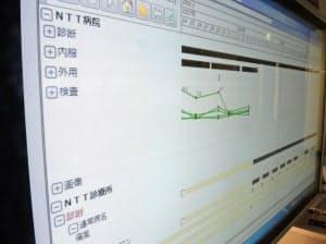 NTT東日本「光タイムライン」は複数の病院にまたがる診療情報を患者ごとに時系列で一覧できる(写真はサンプル画面)