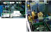 小型家電の受け入れ体制を整える認定事業者。都内に処理施設を持つリーテム(東京都千代田区)は、収集区域を東北に広げた(右)。大栄環境(神戸市)は環境省の実証事業を通じて運営体制の構築を狙う(左)