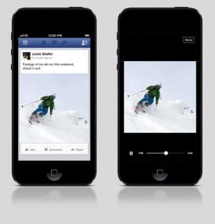 写真 Facebookの動画再生画面