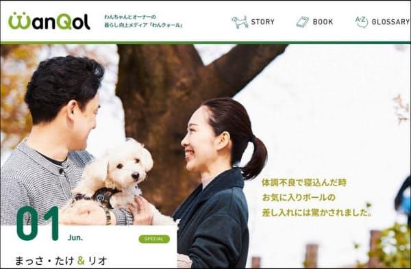 飼い犬専門のウェブメディア「わんクォール(WanQol)」