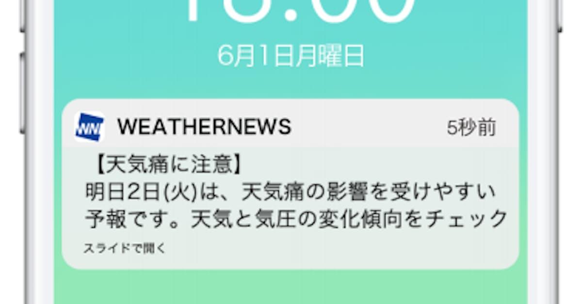 痛 予報 天気