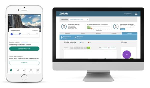 患者と医師の対話アプリ「リセット」「リセット・オー」(出所:ペア・セラピューティクス)