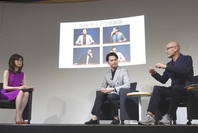 コロナウイルスの感染予防のため、受講者なしで収録した(東京・千代田の日本経済新聞社東京本社)