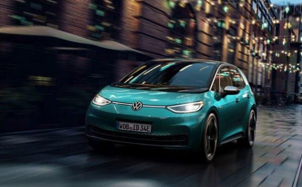 フォルクスワーゲンが欧州で今年9月上旬の納車開始を予定する電気自動車「ID.3」(出所:フォルクスワーゲン)
