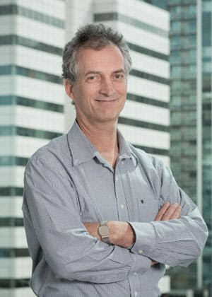米ワシントン大学保健指標評価研究所(IHME)のテオ・ヴォス教授。新型コロナ関連の未来予測チームの主要メンバーだ