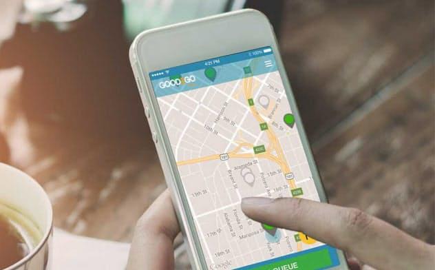 米スタートアップのGood2Goは提供するトイレ検索・予約サービスを提供している(写真 Good2Go)