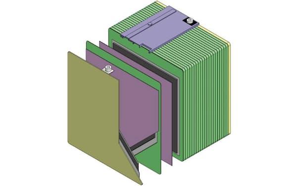 古河電工と古河電池が開発したバイポーラ型鉛蓄電池(出所:古河電気工業、古河電池)