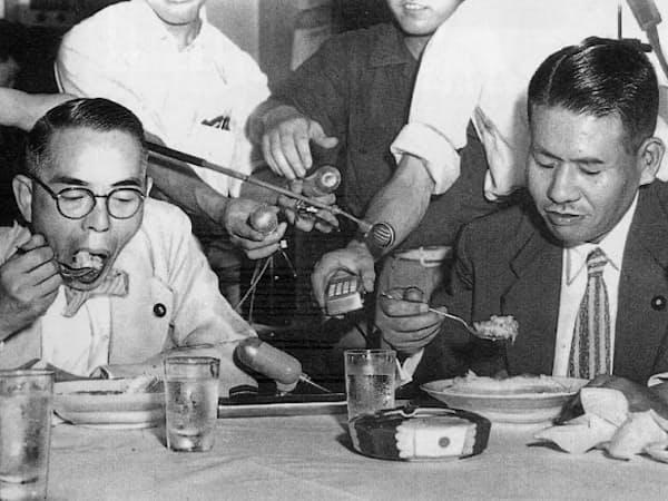 草葉は後に第5次吉田内閣の厚相で入閣した(左、「週刊20世紀」から」