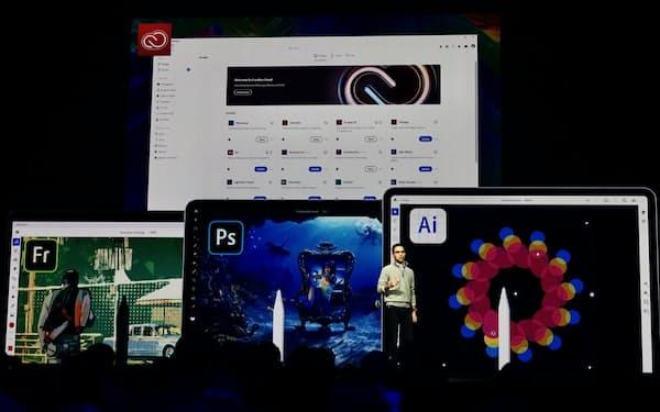 2019年開催のイベント「Adobe MAX」に登壇するベルスキー氏