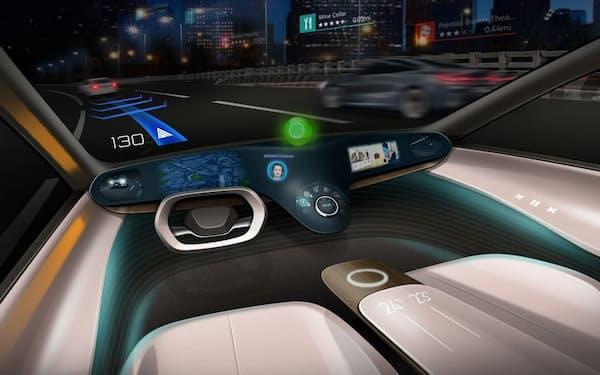レベル3の自動運転に対応した統合コックピットのイメージ(出所:三菱電機)