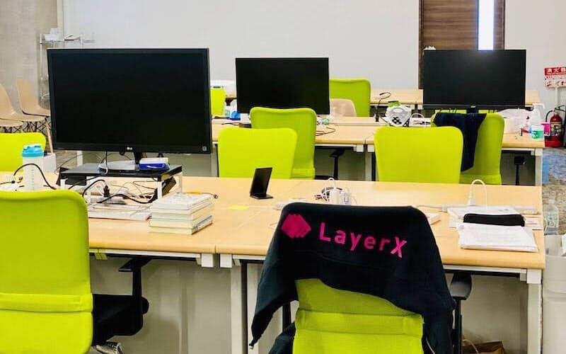 ブロックチェーン技術のスタートアップ、LayerXのオフィス。東京・日本橋に本社を構える(写真:LayerX)