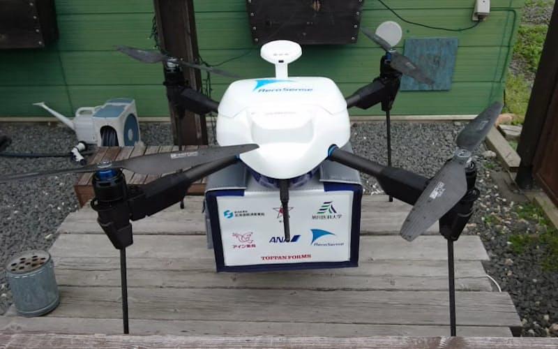 エアロセンスは北海道でオンライン診療に伴う配達の実験をする