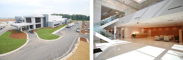 カスタマサービスセンターの外観(左)と内部(右)(写真:ホンダ)