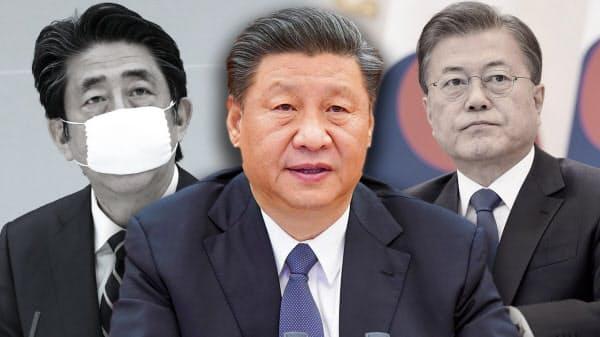習主席は韓国の文大統領らに電話したが・・・=AP