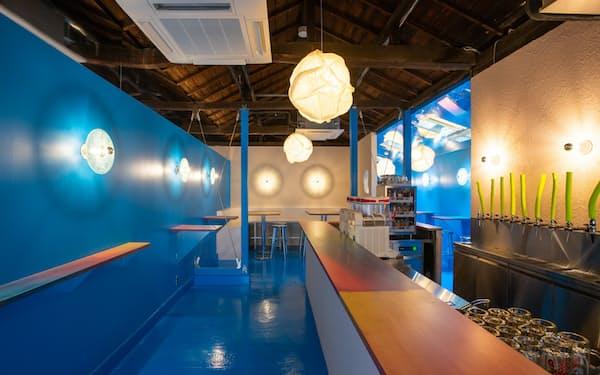 うなぎの老舗「松よし」の建物は、内部を改装してクラフトビール店などが入居する