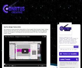 コナタスクリエイティブのウェブページ