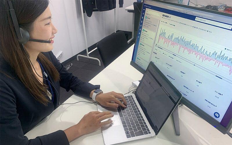 ミーテルはインターネットベースのIP電話で、人工知能(AI)を搭載。通話の内容をリアルタイムで解析する
