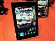 写真2 7型Androidタブレット「kobo arc 7HD」のホーム画面。「楽天gateway」アプリ(ウィジェット)がプリインストールされている