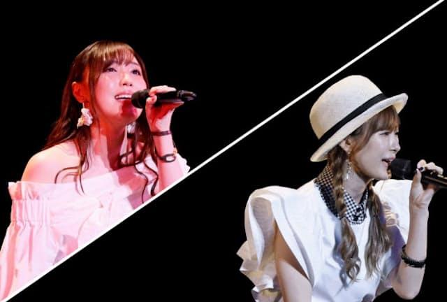 7月のハロー!プロジェクトの夏ツアーのスタート公演ではモーニング娘。'20のメンバーの譜久村聖(左)や生田衣梨奈(右)がバラードを熱唱した